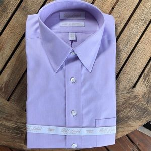 Roundtree and Yorke gold label lavender shirt